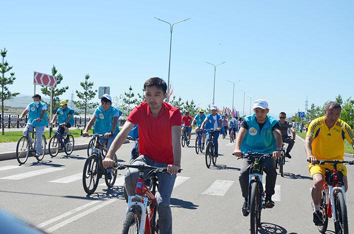 Велопробег к юбилею столицы прошел в Талдыкоргане