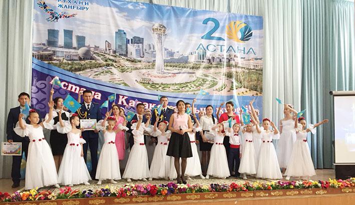 К 20-летию Астаны акимат поселка Боралдай Илийского района организовал молодежный форум