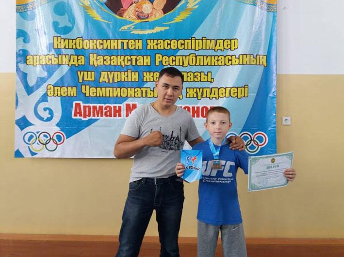 Текелиец Алексей Швейцер завоевал бронзовую медаль по кикбоксингу