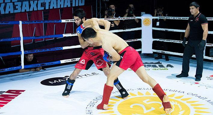 Алматинская область заняла 2 место на чемпионате РК по ММА