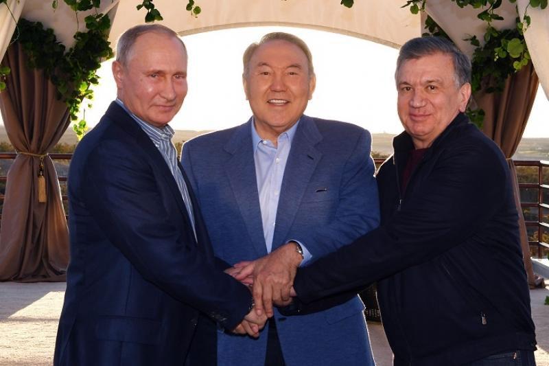 Нурсултан Назарбаев встретился с президентами России и Узбекистана