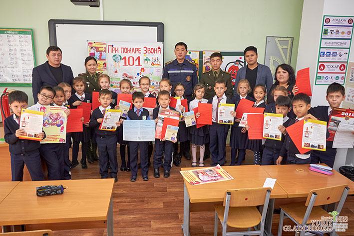 Учащиеся НИШ приняли эстафету «Огнетушитель Дармен»