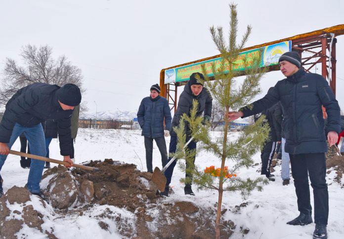 Моногород Текели поддержал национальный проект «Зеленый город - зеленое село»